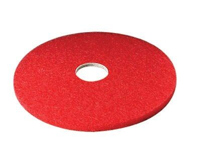 "3m Red Buffer Floor Pad 16 "" Dia 5100 Series Boxed Pack of 5"