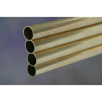 """K&S Metal Round Tube 5/16"""" D X 12"""" L Brass Carded"""