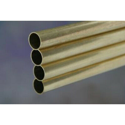 """K&S Metal Round Tube 1/4"""" D X 12"""" L Brass Carded"""