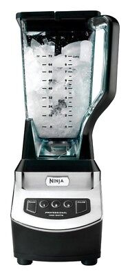 Ninja Blender 72Oz. 3 Speed Brushed Chrome Blk 14.4In. X 9.2In. X 10.5In. 1000W