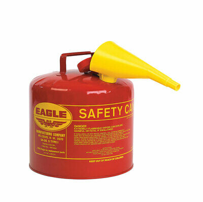 Eagle Safety Gas Can 5 Gal Meets Osha & Nfpa Code 30 Requirements Galv. Steel