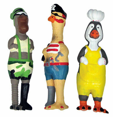 Diggers Squeaky Fowl Character Dog Toy Latex
