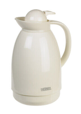 Thermos Thermal Carafe 34 Oz Glass Vacuum Insulated China White