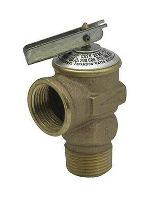 "Cash Acme Pressure Only Relief Valve Tankless 3/4 "" Fip 75 Psi"