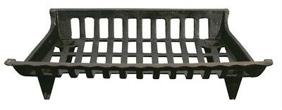 Ace Fireplace Grate Cast Iron Front Width: 24 ""