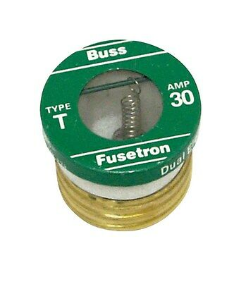 Bussmann Plug Fuse Dual Element 30 Amp 125 V Brass Industrial Strength Box / 4