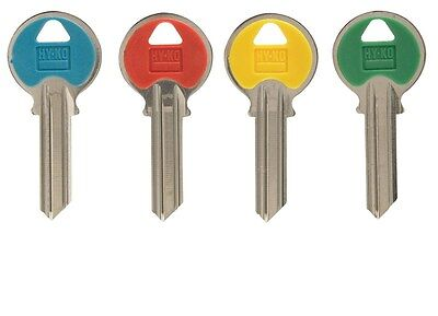 Hy-Ko Key Blank Cylinder Yale Ez# Y1 Single Sided Plastic Color Mixed-PK 5