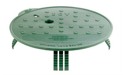 "Groundtopper Valve Box Lid 8 "" Green Pvc"