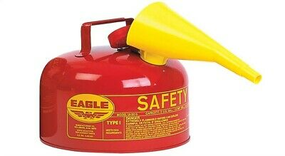 Eagle Safety Gas Can 2 Gal Meets Osha & Nfpa Code 30 Requirements Galv. Steel