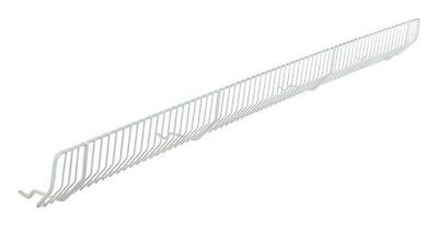 Lozier Wire Bin Front 3 In. H X 36 In. W White 20 / Box Pack of 20