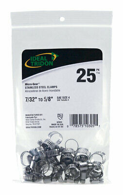 """Ideal Tridon Hose Clamps Stainless Steel 7/32 """""""