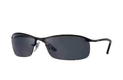 Ray-Ban RB3183 002/81 Black Frame/Polarized Grey Gradient Lens 63mm