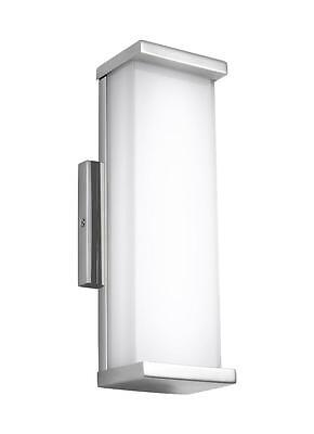 Polished Stainless Steel Altron 1-Light LED Outdoor Wall Sconce W/Etched Glass
