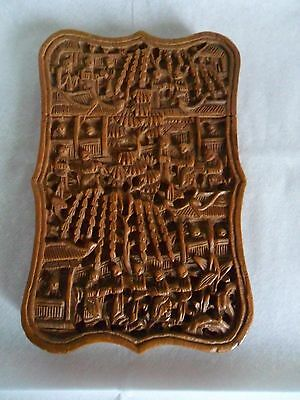 Carved Chinese Wood Cardcase