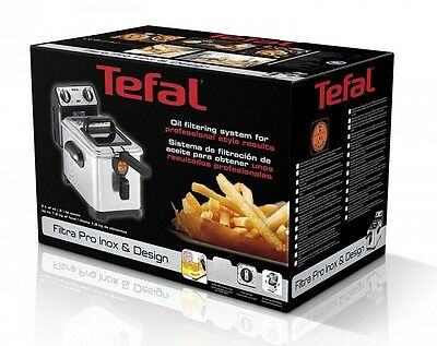 Tefal FR5101 Fritteuse Filtra Pro Inox and Design, Timer, wärmeisoliert,