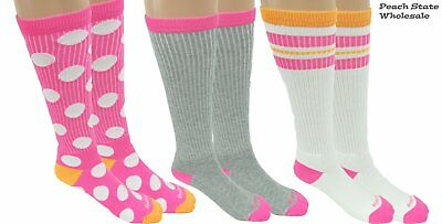 Reebok Mix  N Match All Sport 3 Pack Youth Socks Polka Pink Size Small 2701d62e1