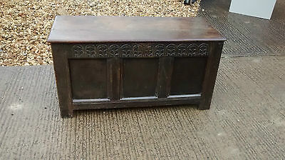 17th Century Oak Coffer, Lovely Condition With Candle Box