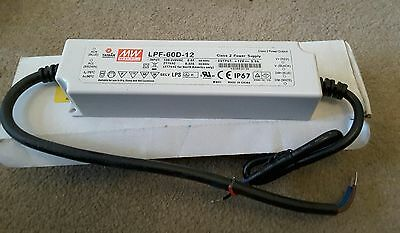 NEW*** Mean Well LPF-60D-20, Constant Voltage Dimmable LED Driver 60W 20V 3A