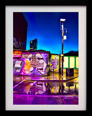 Shoreditch By Night London A3 Art Poster Street Print - Limited Edition Of 100
