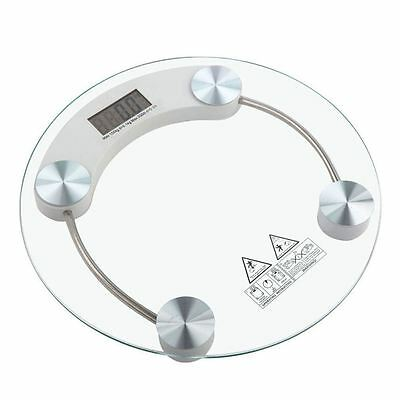 Body Weight Weighing Scale Measure Bathroom Digital Electronic Round Glass 180kg