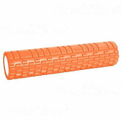 Grid Foam Roller Trigger Point Gym Sports Massage Physio Yoga Roller 61cm Orange
