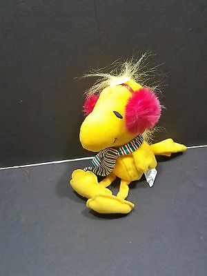 Applause Woodstock Snoopy With Earmuffs & Scarf Plush Stuffed Animal With Tags