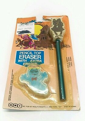 Vintage General Mills Count Chocolate & Boo Eraser with one pencil  Package WOW