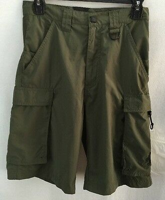 Mens Boy Scouts Of America Camping Hiking Shorts Size Xs Green
