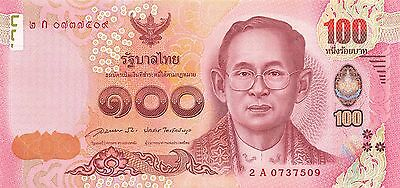 Thailand  100 Baht   ND. 2015  P 127 Series 2 A  Uncirculated Banknote