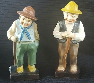 lot of 2 vintage Enesco old man figurines men • $9.95