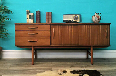 Stylish Retro Vintage Mid Century Sliding Door Teak Avalon Sideboard