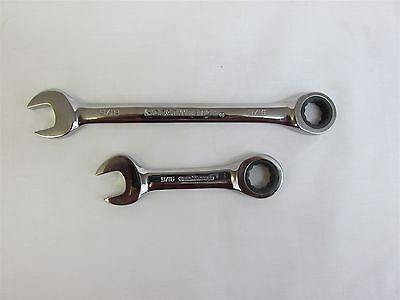 GearWrench Ratcheting Flat Combination Wrench Long or Stubby MM or SAE Any Size