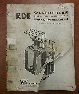 Eaton Yale & Towne Forklift Parts Manual Rde (020-040)