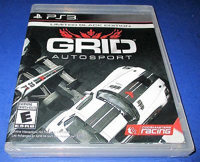 GRID Autosport - Limited Black Edition Sony PlayStation 3 *New-Sealed-Free Ship!