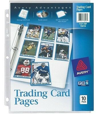 20 TRADING Ultra Storage PRO CARDS SLEEVES PAGES - 9 POCKETS - AVERY