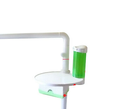 Dental 3 in 1 Oral Tray Tissue Box and Cup Storage Holder for Dental Chair Green