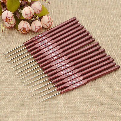 1 Pc Crochet Hooks Every Size from 0.5mm to 2.7mm Lace Hook Knitting Craft DIY