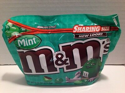 M&M's Mint Chocolate Candy 9.60 oz 272.2 g New Resealable Zipper Pouch