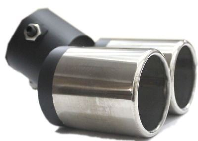 Dual Exhaust Pipe Vehicle Muffler Tip For Car