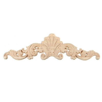Wood Carved Corner Onlay Applique Frame Decor Furniture Craft 20*5cm Q9U7