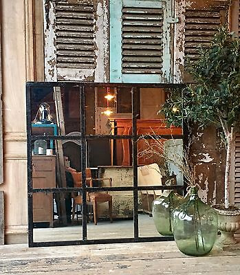 Beautiful Vintage French Architectural Industrial Mirrored Window Frames