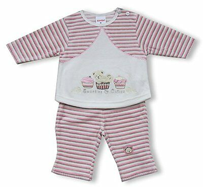 Schnizler - Nickianzug Sweeties and Cuties, Hose geringelt, Jogging Suit (c3t)