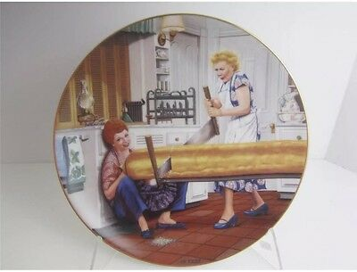"""I Love Lucy Collector Plate """"A RISING PROBLEM"""" Cert Of Authenticity Included"""