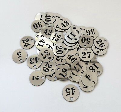 200x3cm Custom Engraved Number Discs, Restaurant Clubs, Tags, Locker, Table, Pub