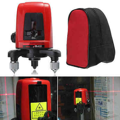 AK435 360 Degree Self-leveling Cross Laser Level Red 2 Line 1 Point With Bag
