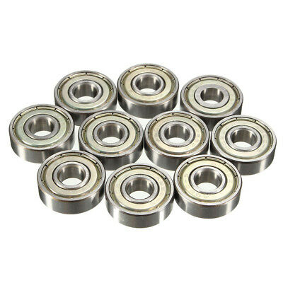 20 pcs 608zz Deep Groove Ball Bearing Carbon Steel For Skateboard Roller Blade