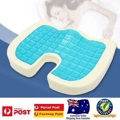 Memory Foam GEL Cooling Seat Cushion Posture Back Hip Support Car Seat Cover