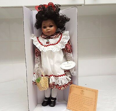 MA17 Leonardo Collection Porcelain Doll Carmen African American Vintage Doll