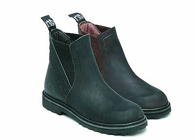 Harry Hall Equestrian Horse Riding Recife Waxy Leather Jodhpur Outer Sole Boot