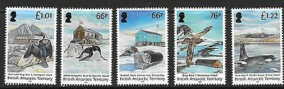 British Antarctic Terr. Sg675/79 2015 Historic Huts  Mnh